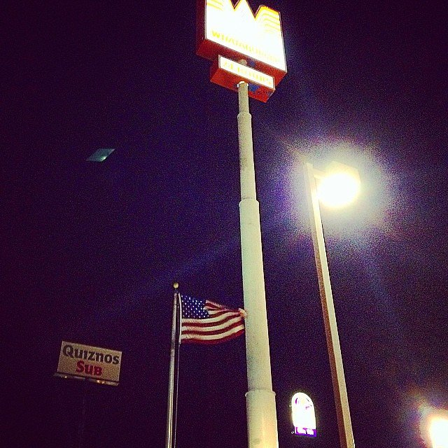 UFO sighting near the Whataburger in Corpus Christi, TX.... We are not the only ones who love burgers & fries.